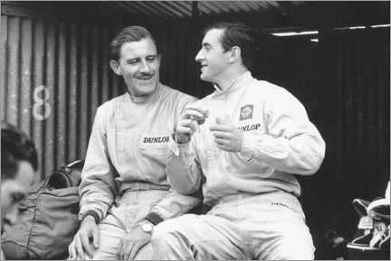 Premium poster Graham Hill and Jackie Stewart, French GP, 1965