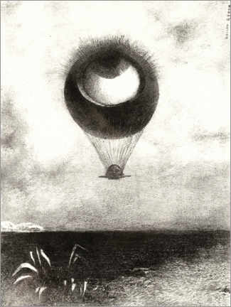 Canvas print  The Eye, Like a Strange Balloon - Odilon Redon