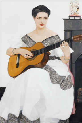 Wall sticker  Delfina on guitar - Bernard Boutet de Monvel