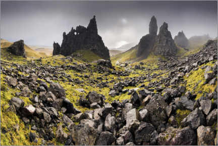 Acrylic print  The Old Man of Storr in autumn - The Wandering Soul