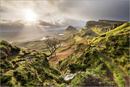 Premium poster  Scottish highlands in stormy weather - The Wandering Soul