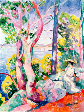 Gallery print  Morning (lady on the shore of a bay) - Henri Manguin