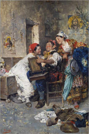 Canvas print  Gypsy, man with two women - Vincenzo Irolli