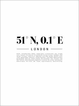 Premium poster  Coordinates - London - Finlay and Noa