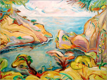 Acrylic print  Mugel Bay at La Ciotat - Emile Othon Friesz