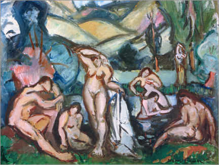 Acrylic print  Bathing women - Emile Othon Friesz