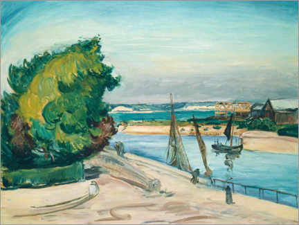 Aluminium print  Le Havre, entrance to the port - Emile Othon Friesz