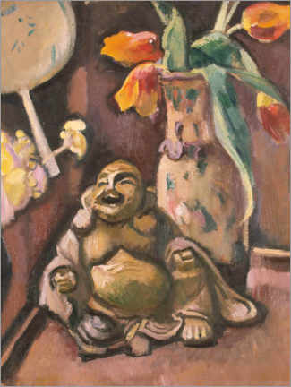 Canvas print  Still life with a Buddha statuette - Emile Othon Friesz
