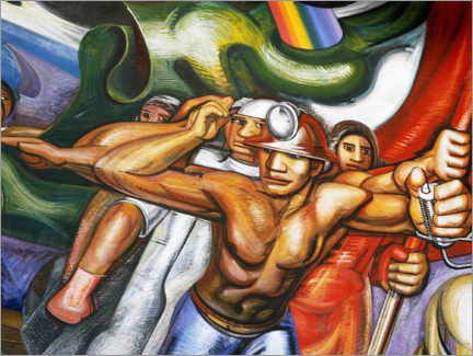 Foam board print  Procession of men and women - José Clemente Orozco