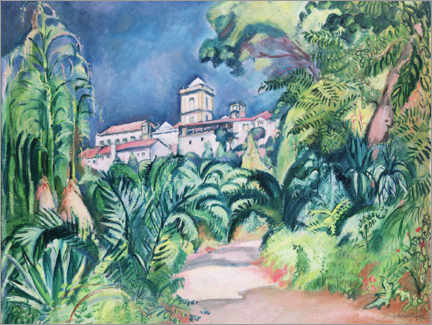Gallery print  Gardens of the University of Coimbra, Portugal - Emile Othon Friesz