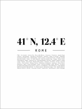 Canvas print  Coordinates - Rome - Finlay and Noa
