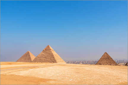 Premium poster The Pyramids in Giza, Egypt