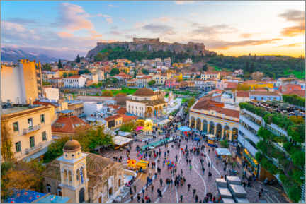 Premium poster Athens and the Acropolis