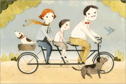 Wall sticker  Family Tandem - Judith Loske