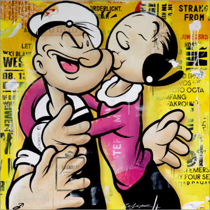 Canvas print  Popeye and Olive - Michiel Folkers