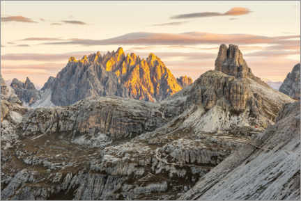 Premium poster View of the Haunold in the Dolomites