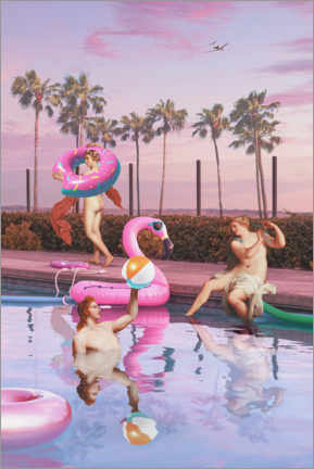 Canvas print  Pool party - Jonas Loose