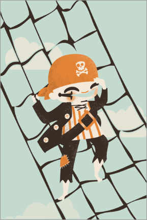 Acrylic print  The pirate sailor - Kanzilue