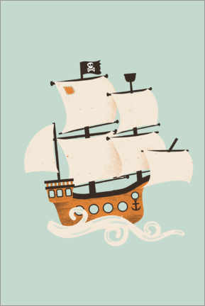 Wall sticker  The pirate ship - Kanzilue