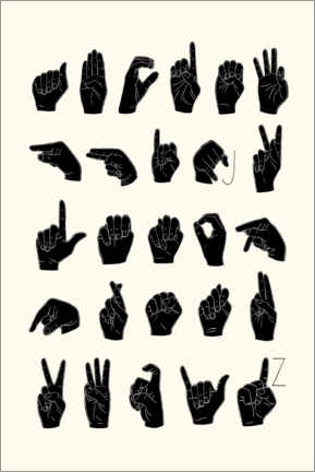 Aluminium print  Sign language ABC - Emma Scarvey