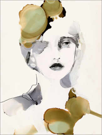 Wall sticker  Portrait of a woman - Victoria Borges