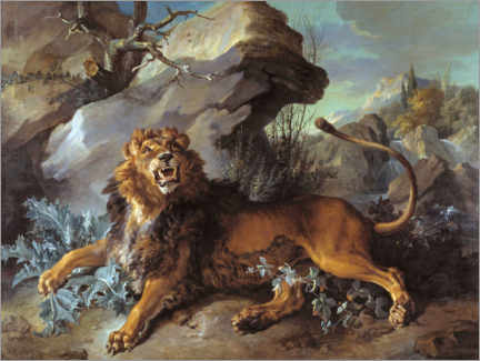 Gallery print  The lion and the fly - Jean-Baptiste Oudry