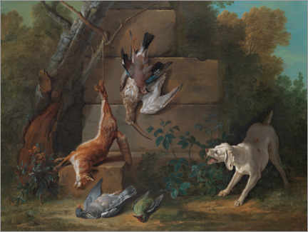 Wall sticker  Dog guards dead game - Jean-Baptiste Oudry