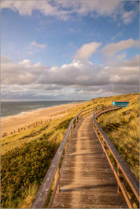Premium poster Path on the dunes on the beach on Sylt