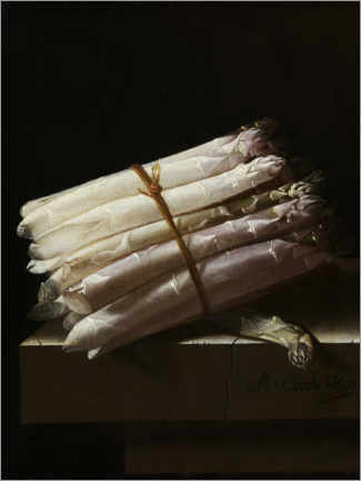 Canvas print  Still life with asparagus - Adrian Coorte