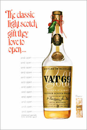 Acrylic print  Vat 69 - Advertising Collection