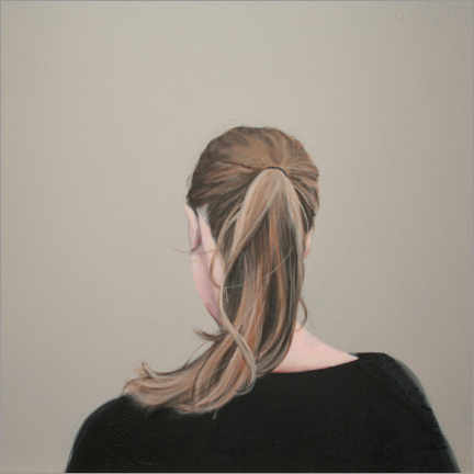 Premium poster Young woman with braid - back portrait