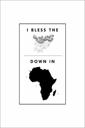 Premium poster  I bless the rains down in africa - Typobox