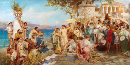 Premium poster Phryne at the festival of Poseidon in Eleusis
