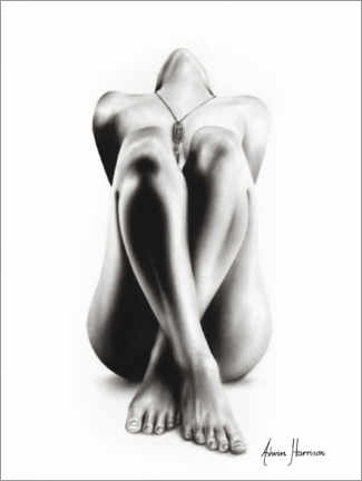 Premium poster Realistic nude drawing