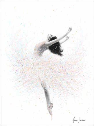 Wall sticker  Ballerina in Pastel Colors - Ashvin Harrison
