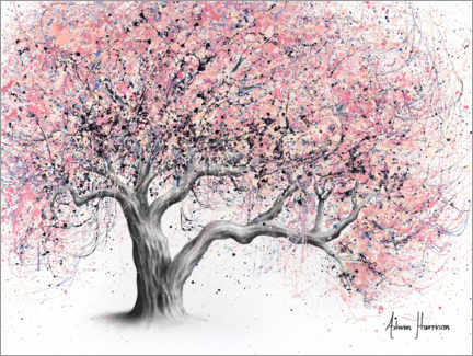 Wood print  Taffy Blossom Tree - Ashvin Harrison