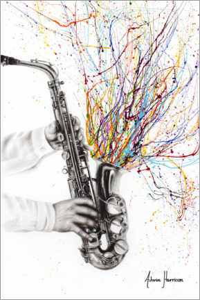 Foam board print  The Jazz Saxophone - Ashvin Harrison