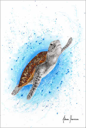 Acrylic print  Happy Sea Turtle - Ashvin Harrison