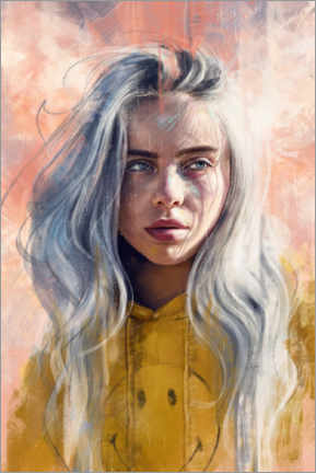 Canvas print  Billie Eilish - Dmitry Belov