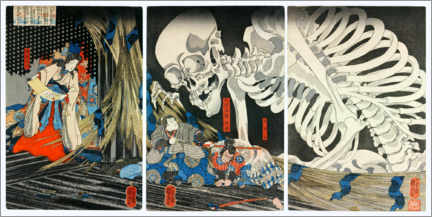 Foam board print  Takiyasha the Witch and the Skeleton Spectre - Utagawa Kuniyoshi