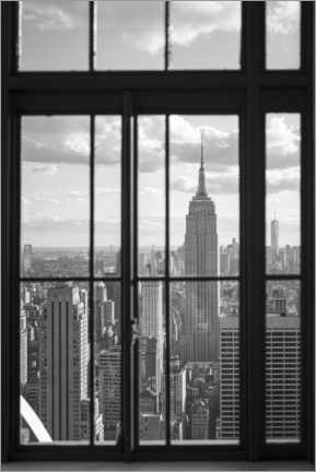 Wood print  Empire State Building in New York City - Jan Christopher Becke