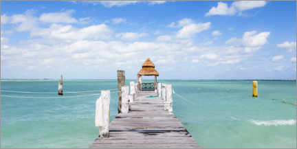 Acrylic print  Jetty on the Caribbean sea - Matteo Colombo