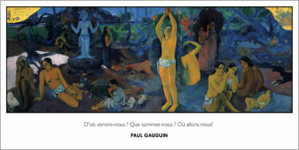 Canvas print  Where Do We Come From? What Are We? Where Are We Going? - Paul Gauguin