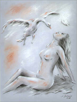 Foam board print  Virgo with a swan - Marita Zacharias