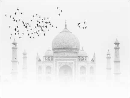 Premium poster Birds over the Taj Mahal
