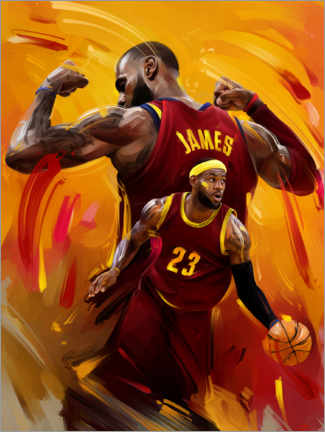 Premium poster  LeBron James - Dmitry Belov