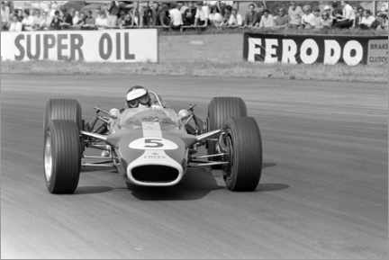 Canvas print  Jim Clark, Lotus 49 Ford, Silverstone UK, 1967