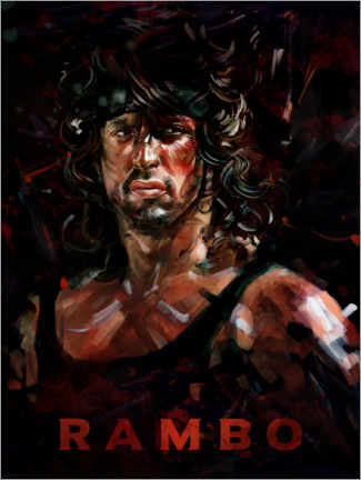 Foam board print  Rambo - Dmitry Belov