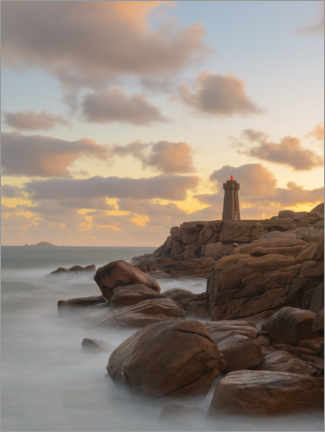 Premium poster  Sunrise at the lighthouse - Jos Pannekoek