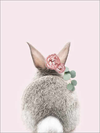 Canvas print  Flower bunny tail - Sisi And Seb